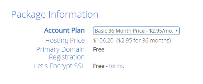 Blue Host Checkout Pricing